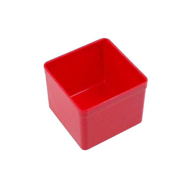 Caixa arrumação 54x54x45mm - Vermelha