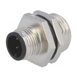 M12 4-pin male connector f / panel