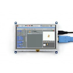Ecrã tátil resistivo 5'' HDMI LCD 800x480