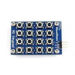 Teclado 4x4 c/ botões de pressão - saída Analógica