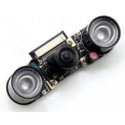 Camara p/ Raspberry Pi c/ lente olho de peixe e suporte p/ visão noturna