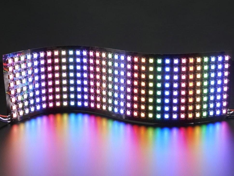 NeoPixel - Matriz de LEDS RGB 32x8 Flexivel - 320x80mm