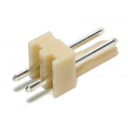 Conector 2 vias 2,54mm para fichas shell ou kk