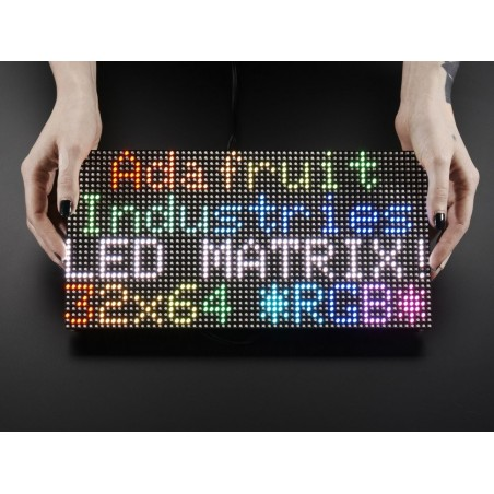 Matriz de LEDs RGB 64x32pixeis - 5mm pitch - 318x158mm