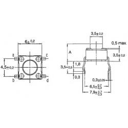 Botão de Pressão para PCB 5mm