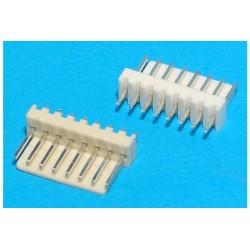 Conector 6 pinos 2,54mm para fichas shell ou kk