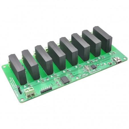 Módulo Relés de Estado Sólido por USB - 8 canais AC