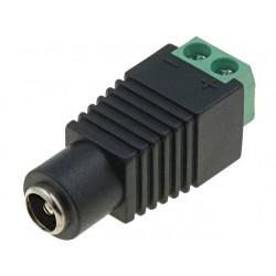 Conector Alimentação DC 2.1mm com Terminais de Aperto