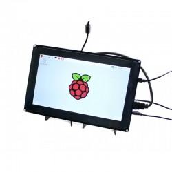 Ecrã tátil capacitivo 10.1'' HDMI LCD 1024x600 c/ Moldura