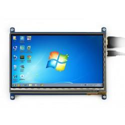 Ecrã tátil capacitivo 7'' HDMI LCD 1024x600 IPS + Moldura