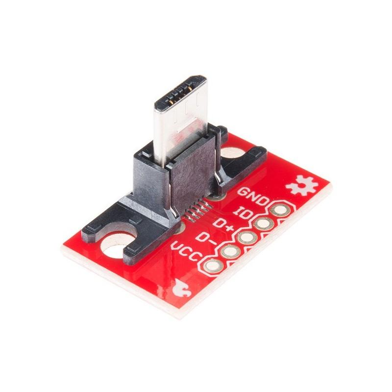 Adaptador USB MicroB Plug para PCB