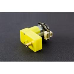 Micro Motor DC 90º com encoder e redutora 120:1 - 6V 160RPM