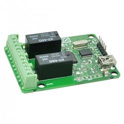 Modulo de 2 relé c/ comunicação USB - NMT