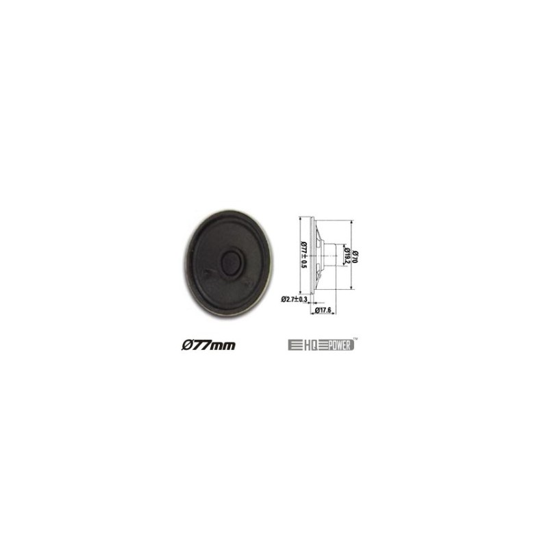 Altifalante Miniatura 1W 8 OHM 77MM HQ Power