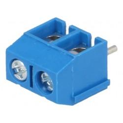 Conector Azul de 2 pinos