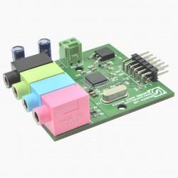 Módulo de expansão AC'97 Stereo Audio Codec - LM4550 para FPGA