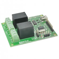 Módulo relé USB - 2 canais - USB miniB