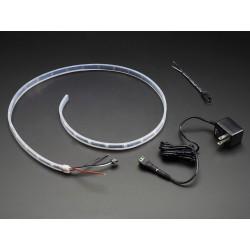 NeoPixel - Fita de LEDs RGB - 30 LEDs (1m) fundo preto (starter pack)