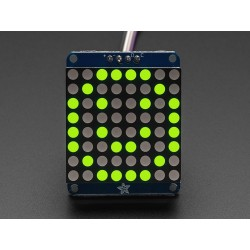 "Adafruit Small 1.2"" 8x8 LED Matrix w/I2C Backpack - Yellow-Green"