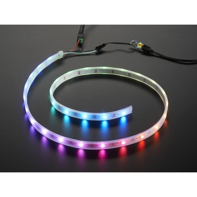 NeoPixel - Fita de LEDs RGB - 30 LEDs (1m) fundo branco (starter pack)