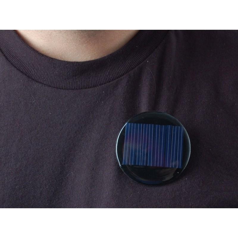 Painel solar redondo c/ alfinete - 5V / 40mA