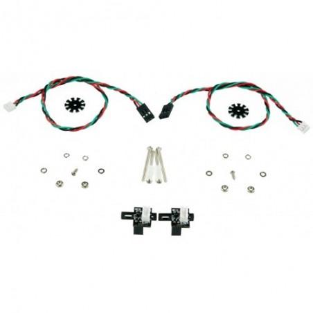 Encoders para motor com eixo duplo
