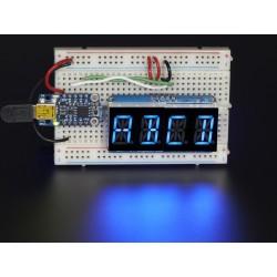 Display Alfanumérico Azul 4 caracteres 13,7mm - Interface i2c