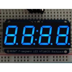 "Adafruit 0.56"" 4-Digit 7-Segment Display w/I2C Backpack - Blue"