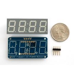 Display 7 segmentos 4 digitos Azul - 14,2mm altura - Interface i2c