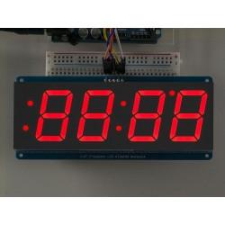 Display 7 segmentos 4 digitos Vermelho - 30mm altura - Interface i2c