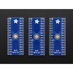 PCB adaptador para chips 32-QFN ou 32-TQFP - Pack de 3