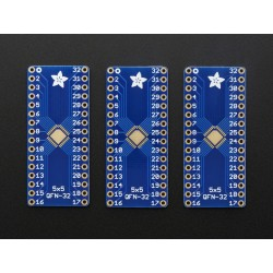SMT Breakout PCB for 32-QFN or 32-TQFP - 3 Pack!