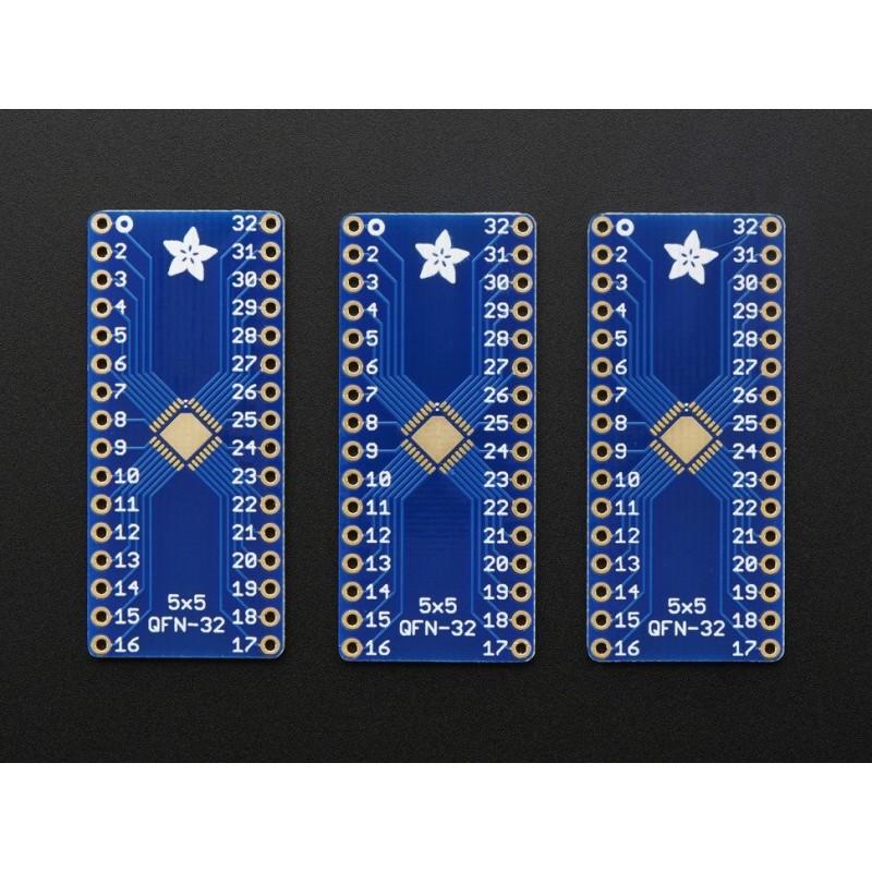 SMT Breakout PCB for 32-QFN or 32-TQFP - 3 Pack!