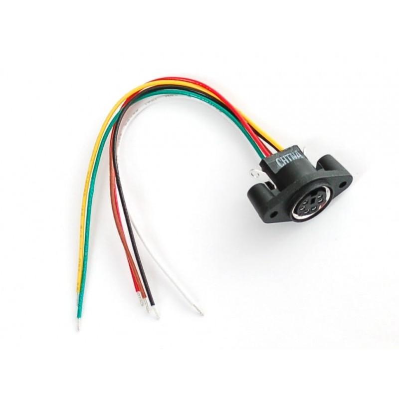 Concetor PS/2 para painel - MiniDIN-6