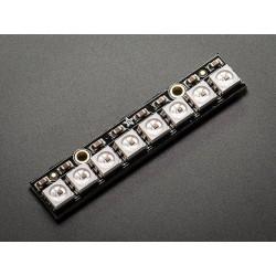 NeoPixel - Barra c/ 8 LEDs RGB WS2812 5050 c/ Driver integrado