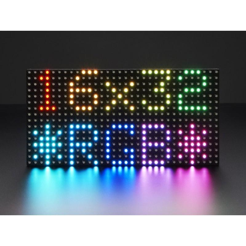 Painel Matriz de LEDs RGB 16x32pixeis - 192x96mm