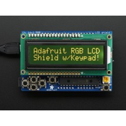 Shield Display 16x2 RGB - comunicação serie 2 pinos