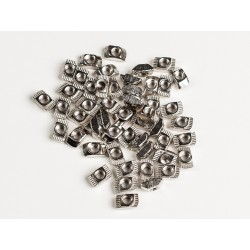 Aluminum Extrusion Slim T-Nut for 20x20 - M4 Thread - pack of 50