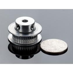 Polia em aluminio GT2 - 36 dentes - centro 5mm - p/ correias de 6mm