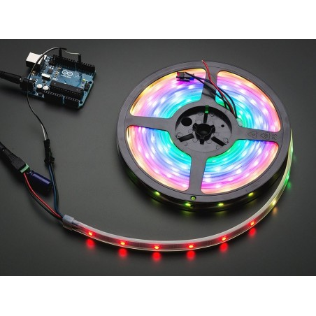 Adafruit NeoPixel Digital RGB LED Strip - Black 30 LED - BLACK
