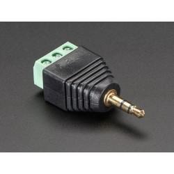 Adaptador Jack Audio 3.5mm para terminais parafuso
