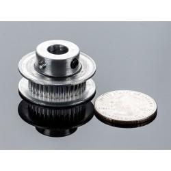 Polia em aluminio GT2 - 36 dentes - centro 8mm - p/ correias de 6mm