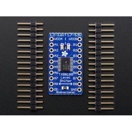 Conversor de nível lógico 8 canais bi-direcionais 3.3V & 5V - TXB0108