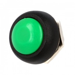 Switch push-button 1position 1A/250VAC green Body black