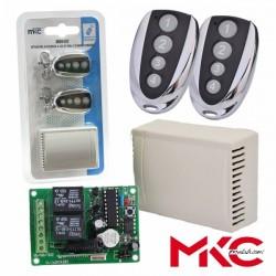 KIT ISSUER RECEIVER DE 2 CHANNELS E 2 COMMANDS INSIDE MKC