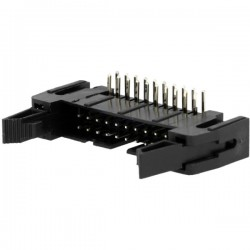 Socket IDC Macho 20pinos 90° THT gold plated 2.54mm