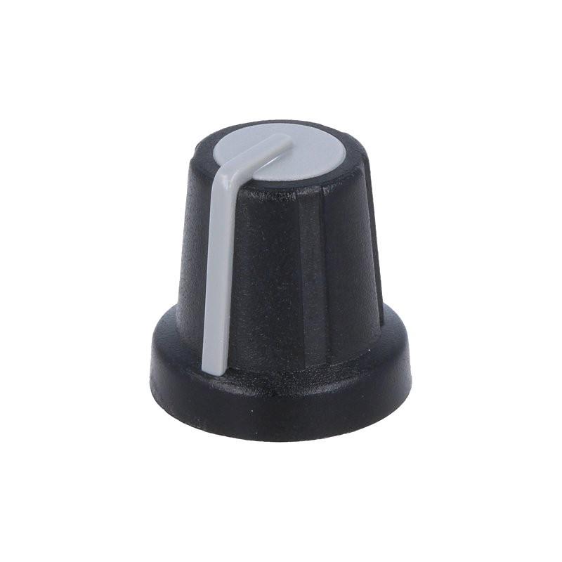 Knob/Botão para potenciómetro de 6mm - Preto
