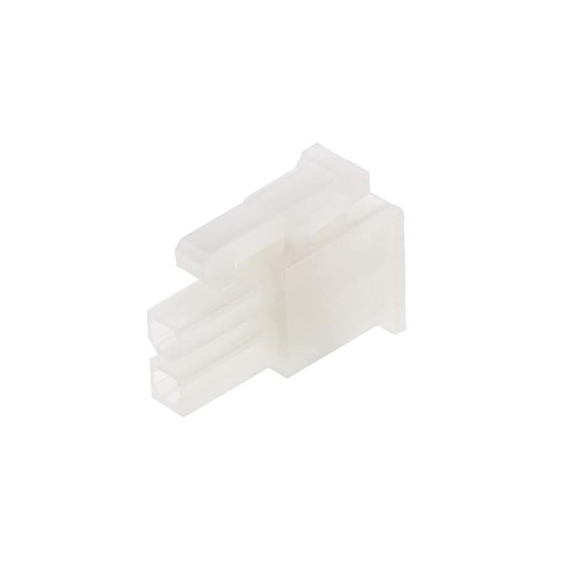 Plug wire-wire/PCB female PIN:2 w/o terminals 4.2mm 600V