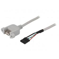 Cabo adaptador USB A femea para painel 0,5m