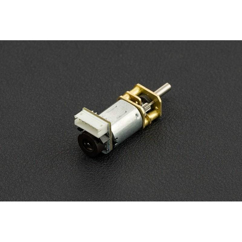 Micro Motor com encoder e caixa Redutora 298:1 - 6V 52rpm